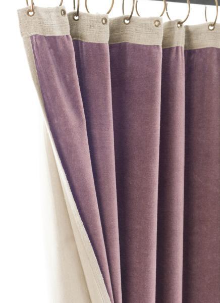 rideau occultant m dicis en velours de coton parme pr t poser 130x280 cm. Black Bedroom Furniture Sets. Home Design Ideas