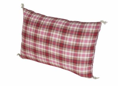 CHECK coussin 30x45 Madras rose