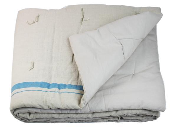 plaid matelass metis en lin et coton canard. Black Bedroom Furniture Sets. Home Design Ideas