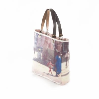 PHOTO PRINT  Sac Cabas en lin - Orange