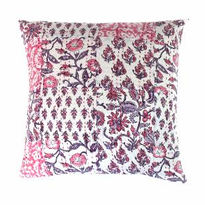 Aloes coussin 45x45 rose