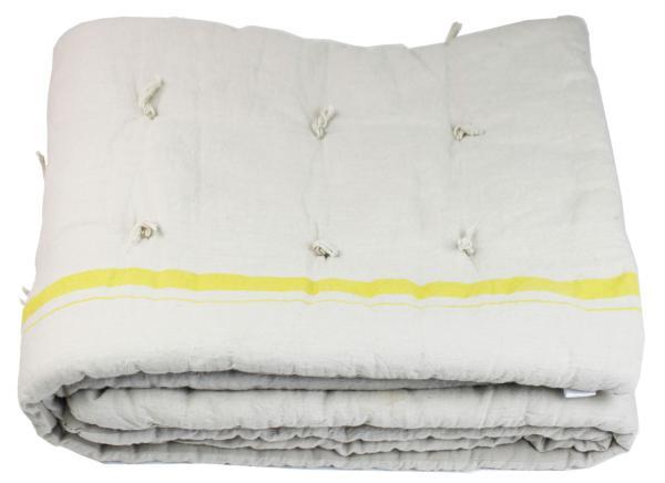 plaid metis en lin et coton jaune. Black Bedroom Furniture Sets. Home Design Ideas