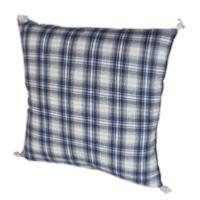 CHECK grand coussin Madras bleu