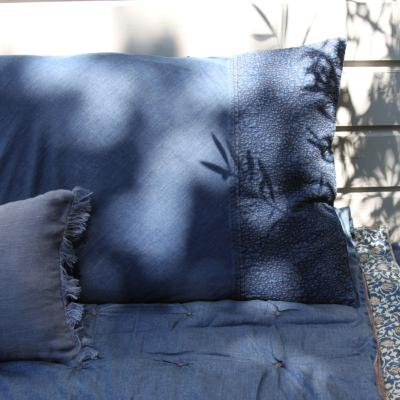 Denim grand coussin 50x75 Brodé