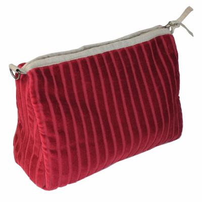 Trousse de toilette XL VELUTI Velours BORDEAUX