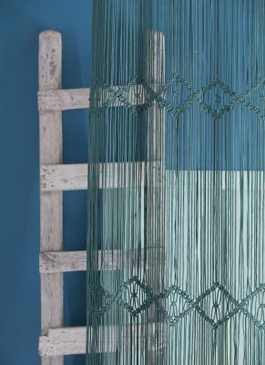 rideau en macram liane vert meraude. Black Bedroom Furniture Sets. Home Design Ideas