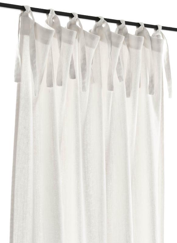 rideau en gros lin pais coloris naturel 140x280 cm dot de franges. Black Bedroom Furniture Sets. Home Design Ideas