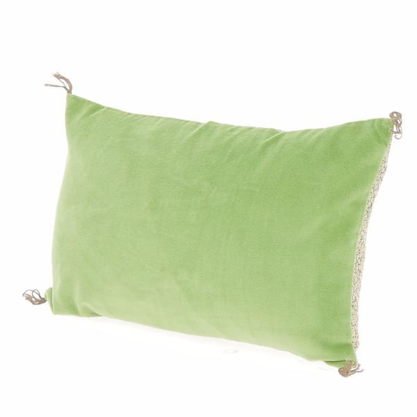 coussin en velours de coton d houssable tosca 30x45 cm vert amande. Black Bedroom Furniture Sets. Home Design Ideas