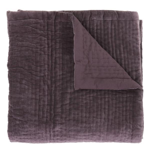 Dessus de lit en velours de coton surpiqu la main doubl coton de la collection vague violette - Dessus de lit pique de coton ...