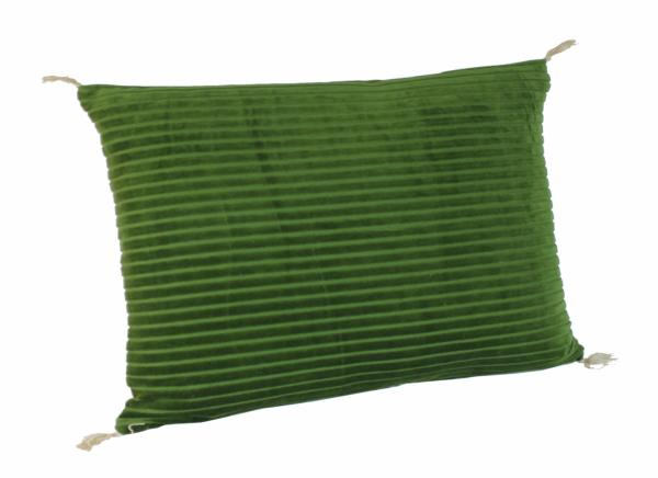 coussin veluti en velours de coton ray vert. Black Bedroom Furniture Sets. Home Design Ideas