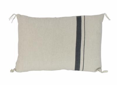 METIS coussin 30x45 en lin Anthracite