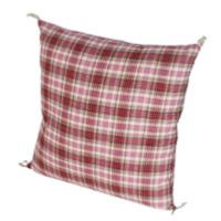 CHECK coussin 45x45 Madras rose