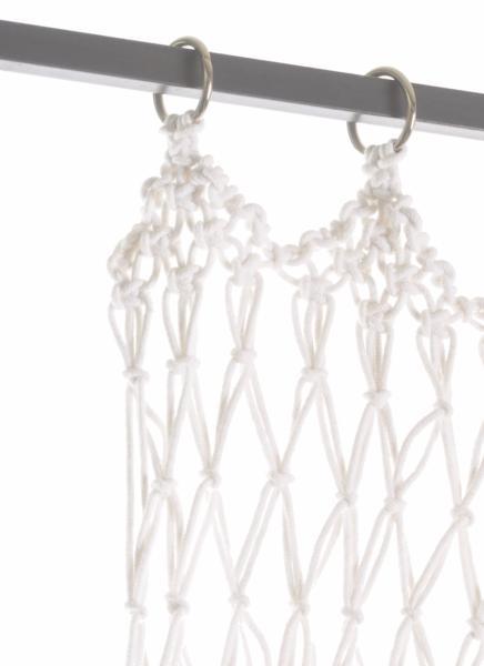 Resille rideau porti re en macram blanc for Fenetre 50x75