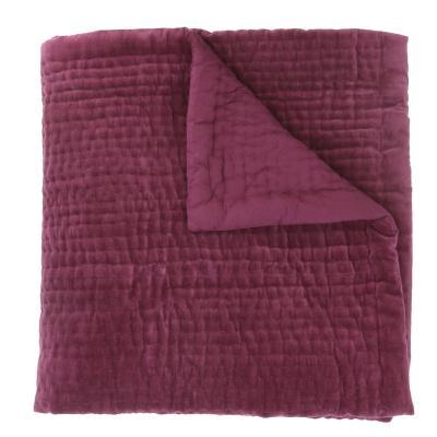 dessus de lit en velours de coton surpiqu la main doubl coton de la collection vague beaujolais. Black Bedroom Furniture Sets. Home Design Ideas