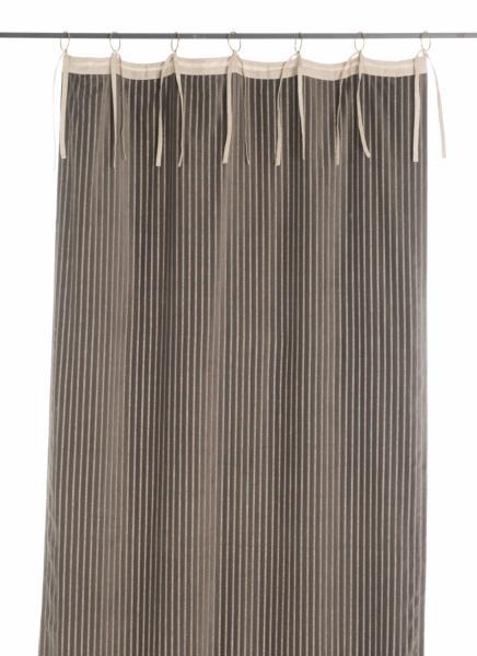 rideau en velours de coton 280x100 cm de la collection veluti gris. Black Bedroom Furniture Sets. Home Design Ideas