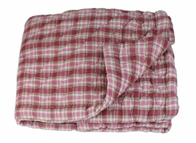 Plaid CHECK Madras Rose 160x160 cm