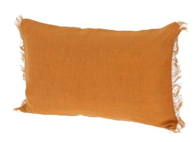 Coussin Double en lin lavé Orange