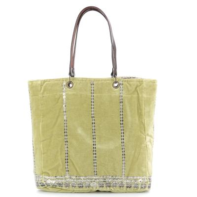 Sac Cabas Nomade Velours Gold
