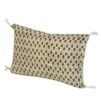Coussin Indienne 30x45 cm Ocre Semis