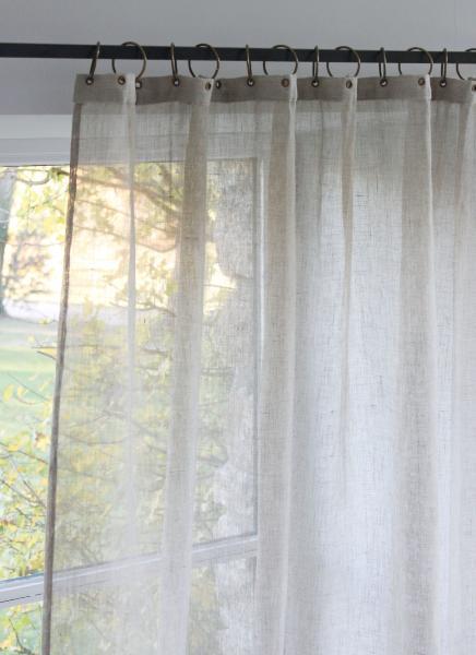 voilage en lin pr t poser brise coloris naturel. Black Bedroom Furniture Sets. Home Design Ideas