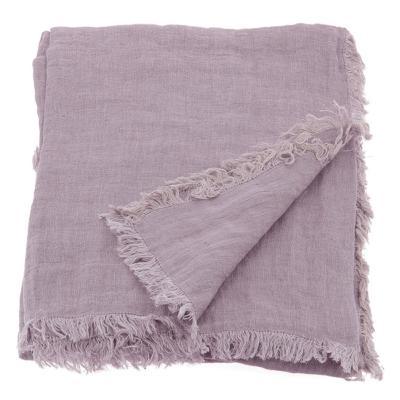 plaids et bout de lit matelass velours et lin en fil d. Black Bedroom Furniture Sets. Home Design Ideas