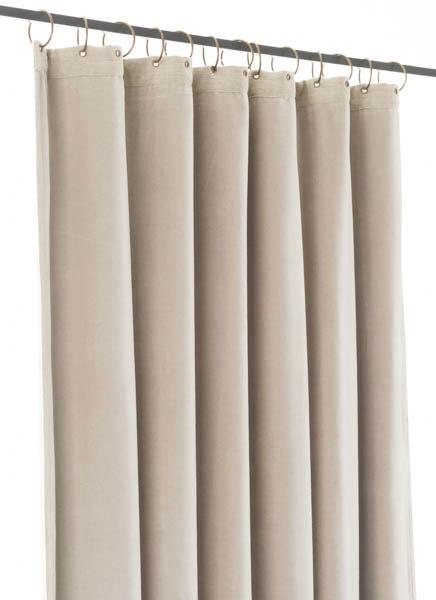 rideau occultant m dicis en velours de coton beige pr t poser 130x280 cm. Black Bedroom Furniture Sets. Home Design Ideas