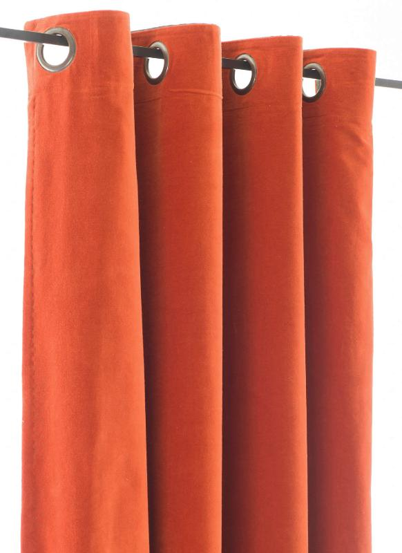 lyric rideaux orange. Black Bedroom Furniture Sets. Home Design Ideas