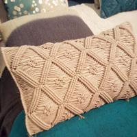 MACRAME  Coussin Ficelle