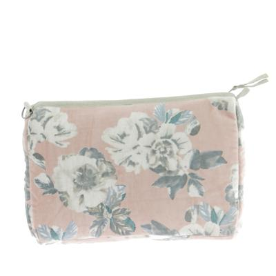 Trousse Extra Large en velours ANEMONE Blush