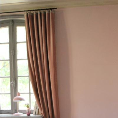 rideau occultant m dicis en velours de coton rose poudre pr t poser 130x280 cm. Black Bedroom Furniture Sets. Home Design Ideas