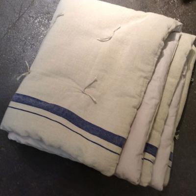 plaid metis en lin et coton indigo. Black Bedroom Furniture Sets. Home Design Ideas