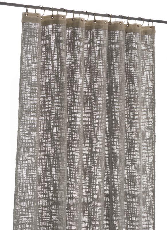 Rideau Nuage 130x280 en Coton - Gris