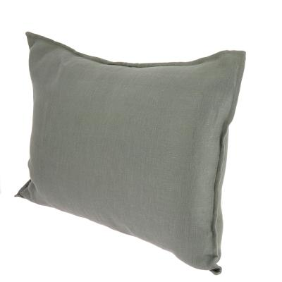 Grand Coussin Double en lin lavé 50x75 cm  Anthracite